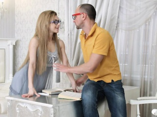 Casual Teen Sex - Nerdy teen has a sex fantasy