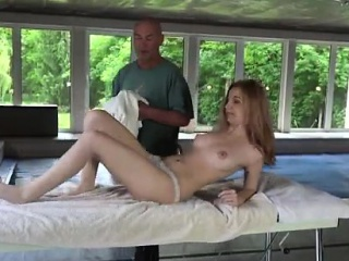 Old mistress Emily Rose needs to unwind and goes to the spa