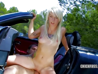 French slut Milky Cooper is outdoors and getting nailed