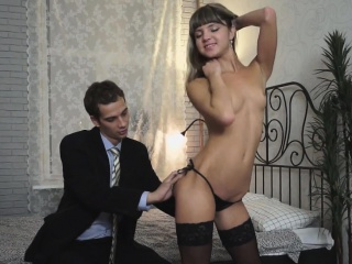 Talented legal age teenager courtesan makes a dude with want